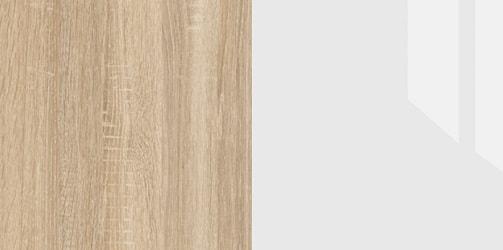 Дуб Сонома/Белый глянец