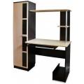 Компьютерный стол №1 (SV) Венге/Дуб млечный