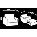 Кресло-кровать Нео 1 (Кр/Кр) схема