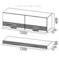 Полка навесная (комплект) Тиффани (SV) схема