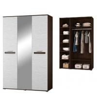 Шкаф 2х дв. с зерк.+Шкаф для платья и белья (Спальня Мишель)