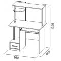 Компьютерный стол №2 (SV) схема