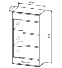 Пенал АШПС600.1 (Асти белый глянец (ДСВ))