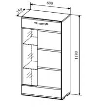 Пенал АШПС600.1 (гостиная Асти (ДСВ))