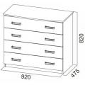 Комод 4 ящика (спальня Лагуна 2) схема