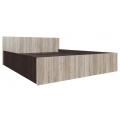 Кровать спальня ЭДМ 5 (140х200) венге/сонома