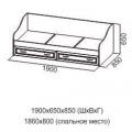 Кровать ДМ-09 (80х186) (Детская Вега) схема