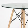 Стол кухонный Barneo T-18 (стеклянный) приближение