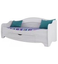 Кровать одинарная с ящиком (Акварель 1) (80х200)