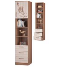 Шкаф для книг с 3-мя ящ. и дв. (Детская Вояж)