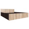 Кровать спальня ЭДМ 5 (160х200) венге/сонома