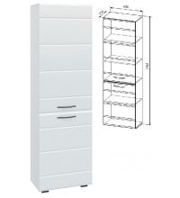 Шкаф АШК600.1 (Асти белый глянец (ДСВ))