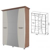 Шкаф 4ств.1,6м.+багет 2шт (спальня Лагуна 7)
