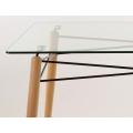Стол кухонный Barneo T-110 (стеклянный) угол