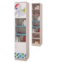Шкаф для книг с 2-мя дверками (Детская Джимми)