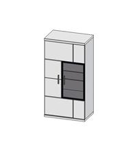 Шкаф навесной Бм.Кор-11-Лев (АЛ)