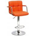 Барный стул BARNEO N-69 оранжевый