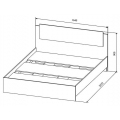 Кровать СКР1600.1 (Софи) (160х200) схема
