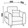 Кресло Нео 39 (КР) схема