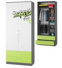 Шкаф для одежды с 2-мя ящиками (Граффити)