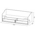 Кровать-диван с ящиками (Детская Грей) (90х200) схема