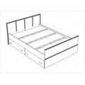 Кровать (спальня Сакура) (140х200) Памир схема