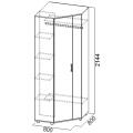 Шкаф угловой (Прихожая визит 1) схема