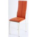 Стул В-610 нубук оранжевый, каркас белый