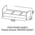 Кровать одинарная (Детская город) (90х200) схема