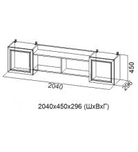 Полка навесная 2040 мм  ДМ-10 (Детская Вега)