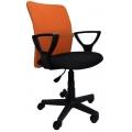 Кресло Том Оранжево-черный
