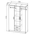 Шкаф ШКР1200.1 Ронда (ДСВ) схема