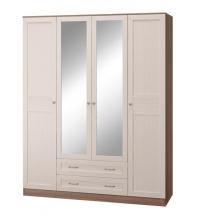 Шкаф 4-х дв. с зеркалом (спальня Лестер)