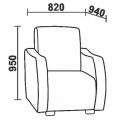 Кресло Нео 51 (КР) схема