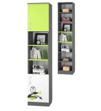 Шкаф для книг с 2-мя дверками  (Граффити)