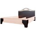 Кровать (Спальня Лагуна 5) (140х200) Венге/дуб млечный