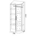 Шкаф угловой (спальня ЭДМ 2) наполнение