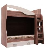 Кровать 2-х яр. с ящиком (Детская город) (80х186)