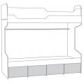 Кровать двухъярусная Джуниор 01.71 (mobi) схема