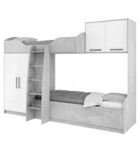 Кровать 2-х яр. без печати (Детская Грей) (80х200)
