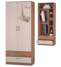 Шкаф для одежды с 2-мя ящиками (Детская Вояж)