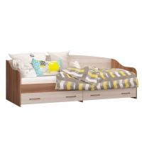 Кровать софа с 2мя ящ. (Детская Вояж) (80х200)