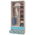 Шкаф для одежды с 2-мя ящиками (Детская Джимми) наполнение
