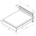 Кровать МД14 (140х200) схема