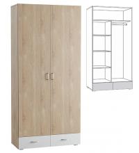 Шкаф 2-х дверный 305 (Линда) (mobi)