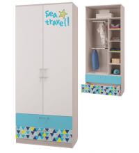 Шкаф для одежды с 2-мя ящиками (Детская Джимми)