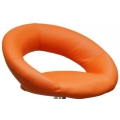 Полубарный стул BARNEO N-84 Mira для столешниц 75-95см Оранжевый