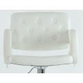 Полубарный стул BARNEO N-135 Gregor для столешниц 75-95см Белый