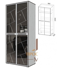 Шкаф + 4 зеркала Степ 1 (SV)