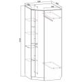 Шкаф угловой (Гамма 15 модульная) схема